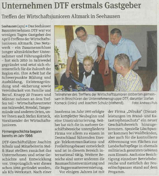 DTF Seehausen Gastgeber Wirtschaftsjunioren