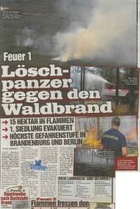 Löschpanzer gegen den Waldbrand