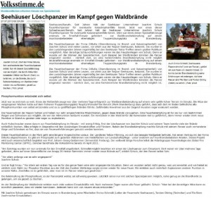 Seehaeuser-Loeschpanzer-im-Kampf-gegen-Waldbraende - Volksstimme 27.07.2013