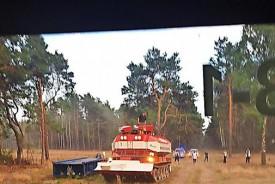 Feuerloeschpanzer im Einsatz
